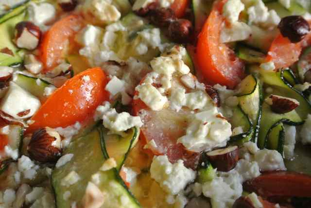 Courgettes & tomaten met feta