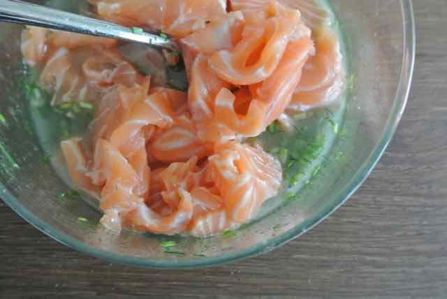 Zalm in kruidenmarinade